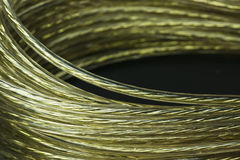 Golden wire coil Royalty Free Stock Photos