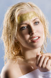 The golden woman Royalty Free Stock Photography