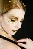 Golden Woman stock photo