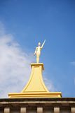 Golden woman statue at Figueres Royalty Free Stock Images