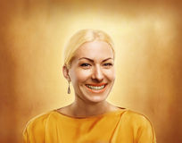Golden woman Stock Photography