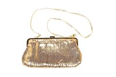 Golden women handbag Royalty Free Stock Images