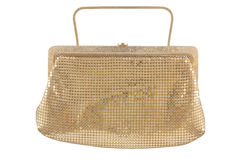 Golden women handbag Stock Photo
