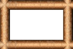 Golden wood. 3d generated frame with light wooden pattern Royalty Free Stock Photography