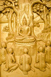 Golden Wood Carving,Traditional Thai Style Stock Image