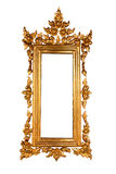 Golden wood frame Stock Photo
