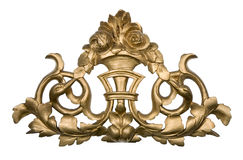 Golden wood ornament