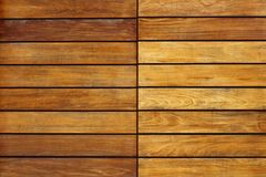 Golden wood stripes door pattern background Royalty Free Stock Image