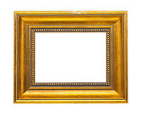 Golden Wooden Frame Stock Photography