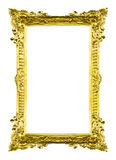 Golden Wooden picture frame isolated Royalty Free Stock Photo