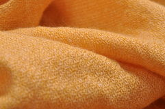Golden wool scarf Royalty Free Stock Photography