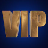 Golden word VIP on blue background Royalty Free Stock Photography