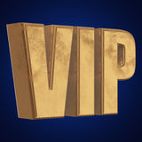 Golden word VIP on blue background Royalty Free Stock Photo