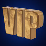 Golden word VIP on blue background Stock Photo