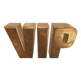 Golden word VIP on a white background Royalty Free Stock Photography