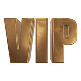 Golden word VIP on a white background Royalty Free Stock Photos