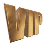 Golden word VIP on a white background Royalty Free Stock Photo