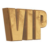 Golden word VIP on a white background Royalty Free Stock Image