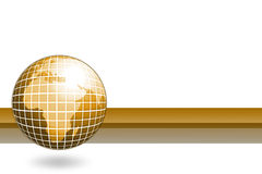 Golden world globe Stock Photography