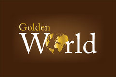 Golden world Logo Stock Photography