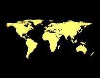 Golden World Map 3D Stock Photos
