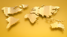Golden world map Royalty Free Stock Images