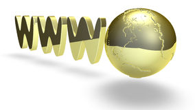 Golden World Wide Web Royalty Free Stock Photos