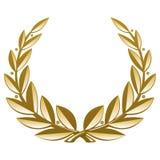Golden Wreath Stock Photo