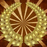 Golden wreath Stock Image