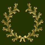 Golden wreath. Stock Photo