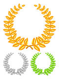 Golden wreath. Royalty Free Stock Photos