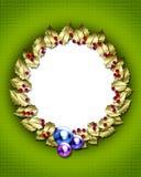 Golden wreath frame Royalty Free Stock Photo