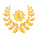 A Golden wreath from the metal.The reward for first place.Awards and trophies single icon in cartoon style vector symbol Royalty Free Stock Images