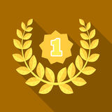 A Golden wreath from the metal.The reward for first place.Awards and trophies single icon in flat style vector symbol. Stock web illustration Royalty Free Stock Photo