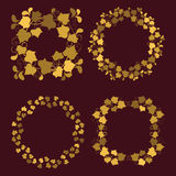 Golden wreaths Royalty Free Stock Images
