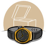 Golden wristwatch Stock Image
