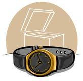 Golden wristwatch Stock Image