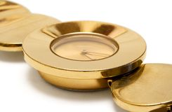 Golden Wristwatch (Close View) Stock Images