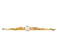 Golden Wristwatches Stock Images