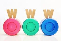 Golden WWW on RBG tube Stock Images