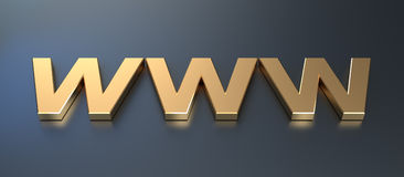 Golden WWW Symbol Stock Photography