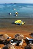 Golden xi beach in kefalonia island in greece Stock Image