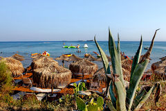 Golden xi beach in kefalonia island in greece Royalty Free Stock Image