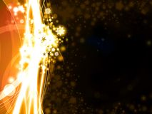 Golden Xmas background with stars. Abstract golden Xmas background with stars and snowflakes illustration Royalty Free Illustration