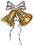 Golden Xmas bells Stock Image