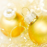 Golden xmas decoration Royalty Free Stock Image