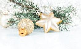 Golden xmas decoration Royalty Free Stock Photography
