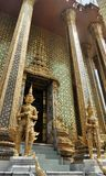 Golden Yaksa giant in full decoration guarding royal temple Stock Photography