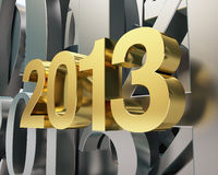 Golden year 2013. And silver numbers Stock Photo
