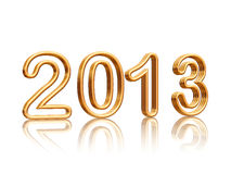 Golden year 2013 Stock Image